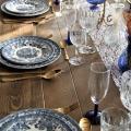 Vaisselle mariage vintage bleu