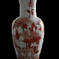 Vase blanc motifs terracotta