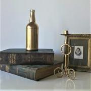 Vase bouteille or centre de table mariage