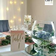 Vase cognac centre de table mariage